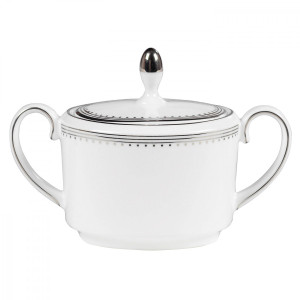 Wedgwood Vera Wang Grosgrain Sugar Bowl New