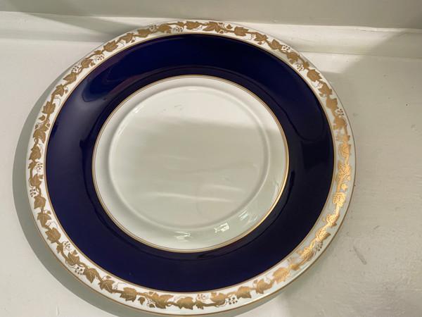 Soup Tureen & Lid w/Underplate Whitehall (Item 4200 Mazarine Blue Band) WEDGWOOD