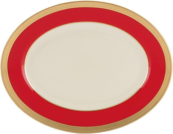"Lenox Embassy 13"" Oval Serving Platter"