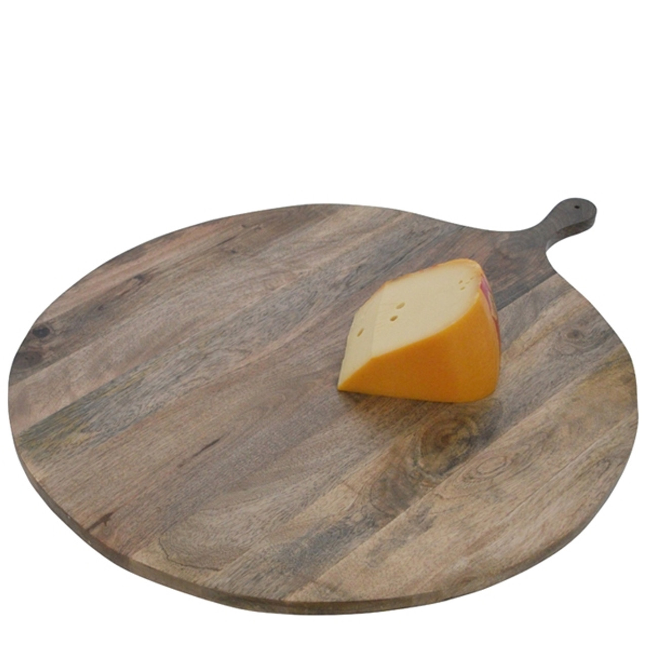 At Home With Marieke Large Round Serving Tray With Handle