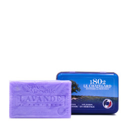 Le Chatelard Lavender Soap in Rectangular Metal Box