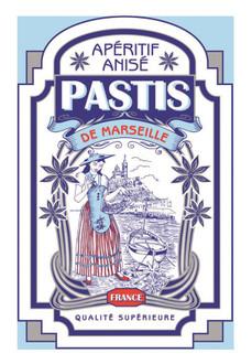 Torchons & Bouchons Tea Towel Pastis Marseille