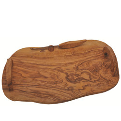 Berard Olive Wood Cheese Board with Handles & Knife