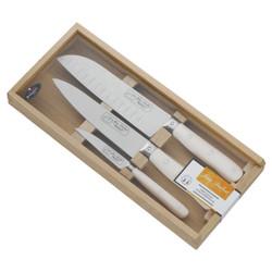 Jean Dubost Pradel 1920 White 3pc Knife Set