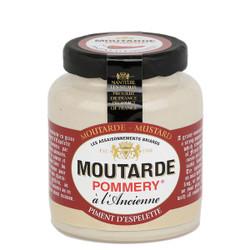 Pommery Espelette Chili Pepper Mustard - Small Stone Jar