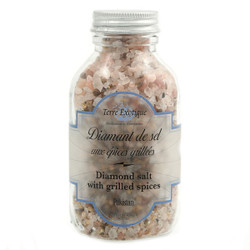 Terre Exotique Pink Salt with Grilled Spices in Jar