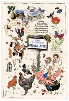 Torchons & Bouchons Tea Towel La Campagne
