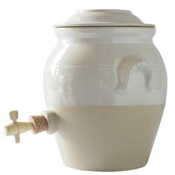 Manufacture de Digoin Vinegar Jar White
