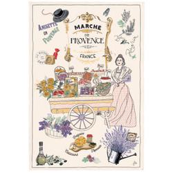 Torchons & Bouchons Tea Towel Provence Market