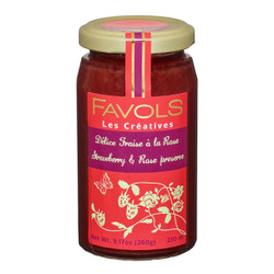 Favols Strawberry Jam with Rose Petals