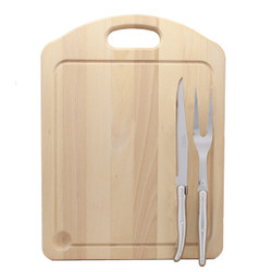 Jean Dubost Carving Set with Stainless Steel Handles and Carving Board