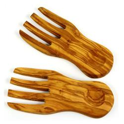 Berard Olive Wood Salad Server Hands