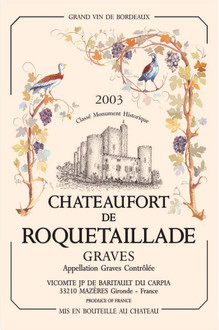 Torchons & Bouchons Tea Towel Chateaufort de Roquetaillade