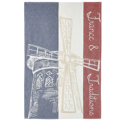 Coucke Moulin Rouge French Flag Tea Towel