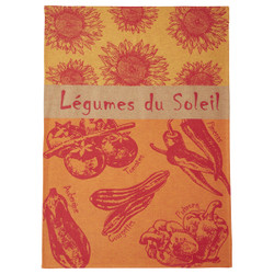 Coucke Sun Vegetables Tea Towel