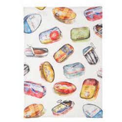 Coucke Sardine Tin Linen Tea Towel