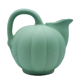 Manufacture de Digoin Light Green Melon Shape Pitcher