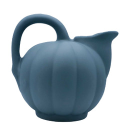Manufacture de Digoin Dark Gray Melon Shape Pitcher