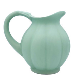 Manufacture de Digoin Light Green Pumpkin Shape Pitcher