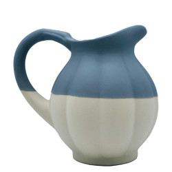 Manufacture de Digoin Dark Gray Pumpkin Shape Pitcher