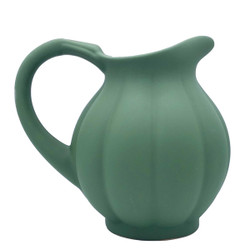 Manufacture de Digoin Dark Green pumpkin Shape Pitcher