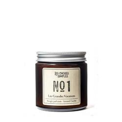 """Les Choses Simples Mini Candle No. 1 """"Les Grandes Vacances"""" (Amber)"""