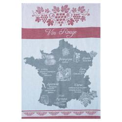 Coucke Red Wine Map Tea Towel