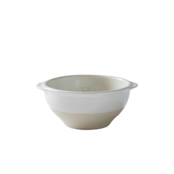 White Bowl with Flat Handles