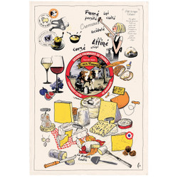 Torchons & Bouchons Tea Towel Cheese Party