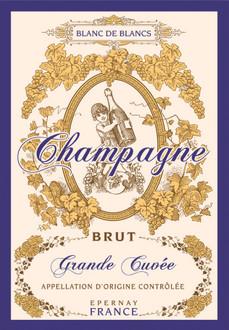Torchons & Bouchons Tea Towel Champagne Brut