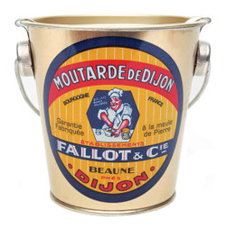 Edmond Fallot Dijon Mustard in a Decorated Metal Pail