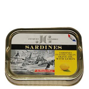 Gonidec Sardines in Organic Extra Virgin Olive Oil with Lemon