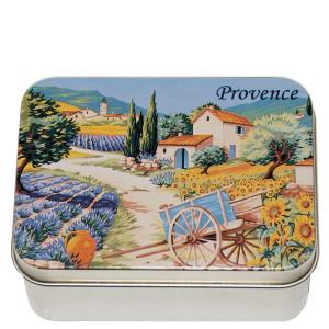 Savon Le Blanc Lavender Soap in Provence Garden Metal Tin