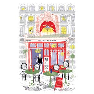 Torchons & Bouchons Tea Towel Bistro Shop