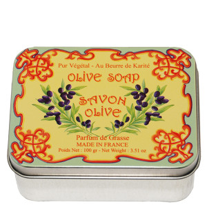 Savon Le Blanc Natural Olive Oil Soap in Olive Oil Tin