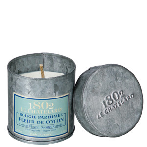 Le Chatelard Cotton Flower Scented Candle in Metal Tin