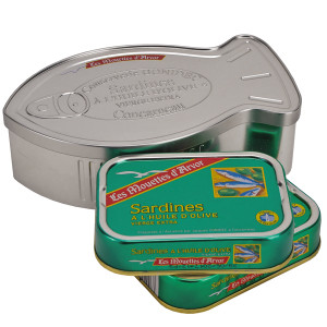 Gonidec Sardines in a Fish Shaped Tin