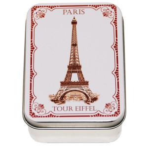 Savon Le Blanc Rose Soap in Eiffel Tower Tin