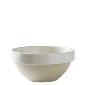 Manufacture de Digoin Medium Salad Bowl White