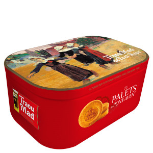 Traou Mad Pont Aven Thick Palet Cookies in VIP Red Tin
