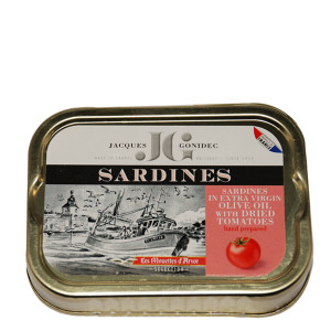 Gonidec Sardines in Extra Virgin Olive Oil with Dried Tomato Sauce