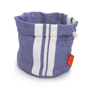 Jean Vier St Jean Bread Basket White & Blue