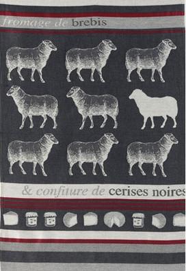 Jean Vier Arnaga Tea Towel with Sheep Design