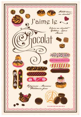 Torchons & Bouchons Tea Towel - Eclairs Au Chocolat