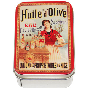 Savon Le Blanc Natural Olive Oil Soap in Huile d'Olive Tin