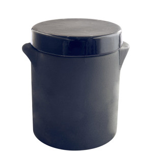 Manufacture de Digoin Canister with Lid Navy Blue