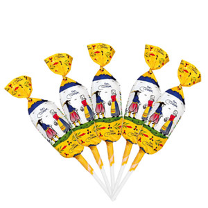 Bonbons Barnier Salted Caramel Lollipops with Quimper Design - 200 CT