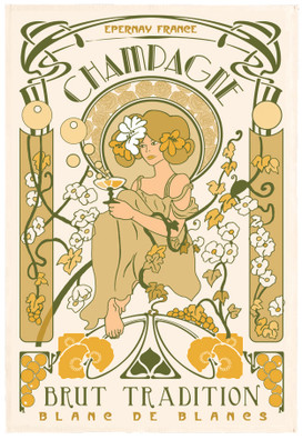 Torchons & Bouchons Tea Towel Champagne Epernay