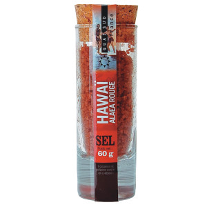 Quai Sud Hawaiian Alaea Red Salt in Shot Glass