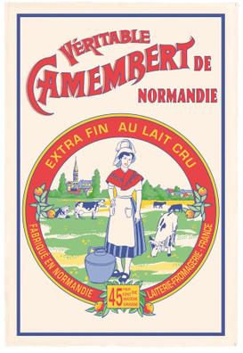 Torchons & Bouchons Tea Towel Camembert